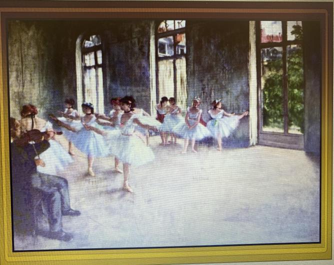 Edgar Degas Ballet Rehearsal 1873