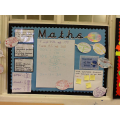Latest Maths working wall...