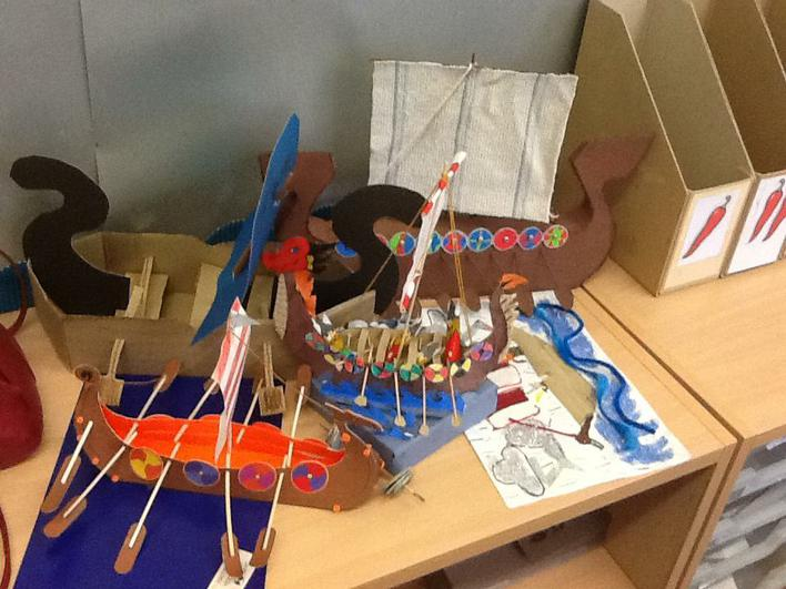 Home learning longships in Year 4