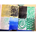 We experimented with creating different textures through paint.