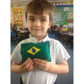 We looked at flags around the world