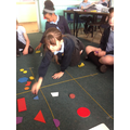 Sorting 2D shapes into Carroll Diagrams