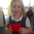 We joined the material using running stitch