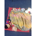 Our teddies used the pillows for a sleepover