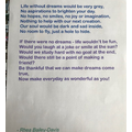 Life Without Dreams Poem Rhea
