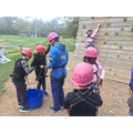 Miss Wallace's group climbing 4