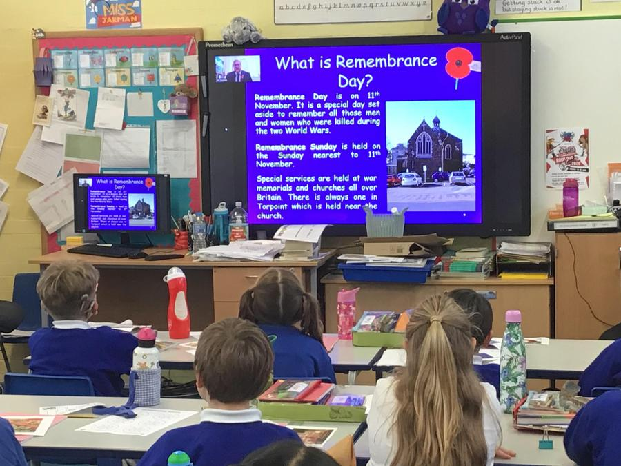A virtual whole school assembly was held to mark Remembrance Day.
