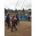 Miss Wallace's group climbing 1
