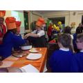 Children were chosen to sample the food