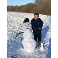 THE ANGRIEST ONE: Evan and his Snowman