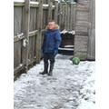 Jacob enjoying the snow.