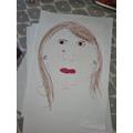 Suzie's fantastic self-portrait!