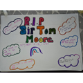 Suzie's poster remembering Sir Captain Tom Moore.