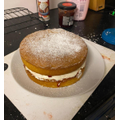 Suzie's delicious cake using her instructions from our English lesson!