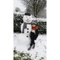 Cory's huge snowman!