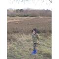 Harrison found some beautiful deer on his walk!