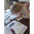 Felicity working hard on topic