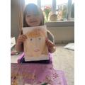 Lizzie's fantastic self-portrait!