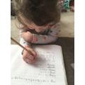Amelia working hard