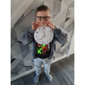 Jacob with the clock he made!