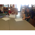 Creating a set of instructions for peers.