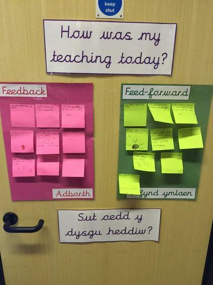 Children give feedback to teachers