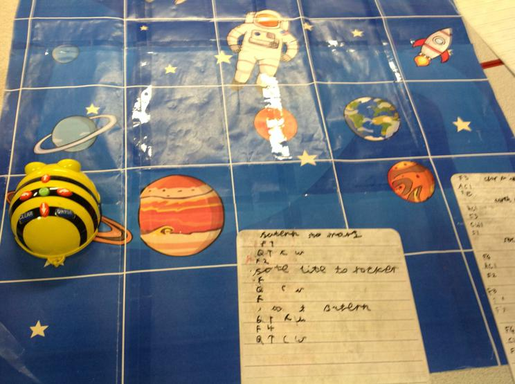 Coding using the Beebot