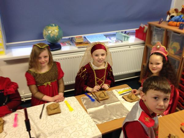 Our Medieval princesses with a knight