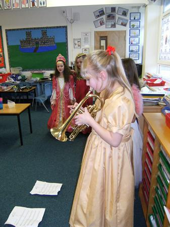 A musical item by some of our lady trumpeters