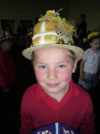 Easter Bonnet Winner Hayden Hutchinson