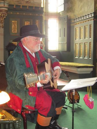 The Spellbinder told us stories and sang songs.