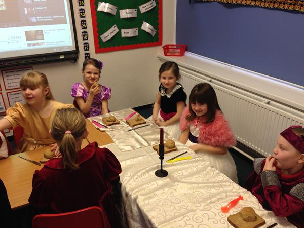 Our royal guests on the top table