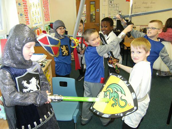 Our Knights challenge each other