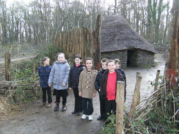 Outside the celtic village