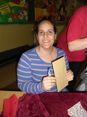 Our big prize winner Mari Franks
