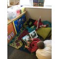 In reception we enjoy reading and looking at books