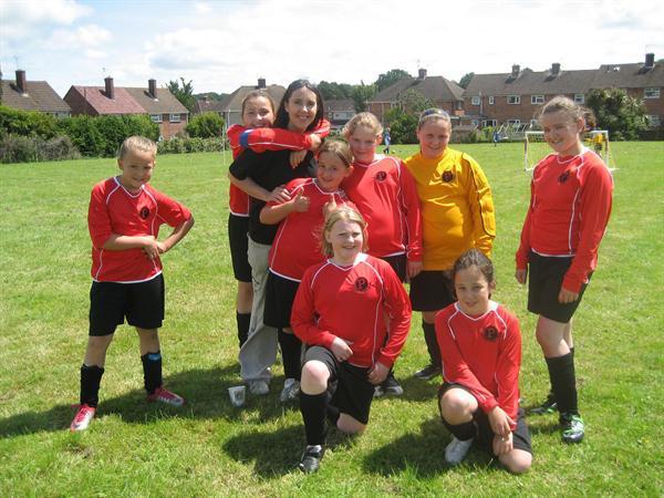 The Winning Girls Team