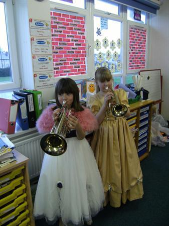 Our brass duo entertain us