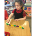 We have been exploring colour patterns this week