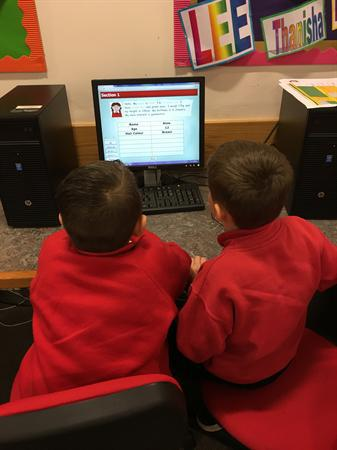 Year Three exploring databases.