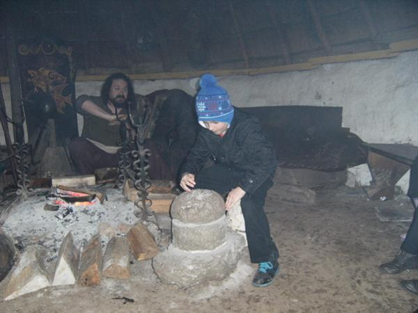 Using the grinding stone
