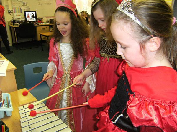 A musical item by some of our ladies