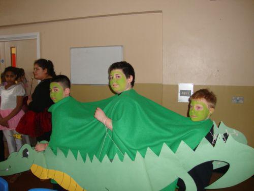 A scary looking crocodile.