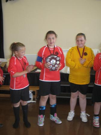 Winning Captain Ffion Griffiths