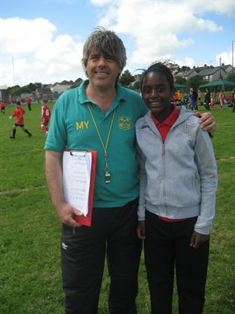Mr Young and his helper Tansia