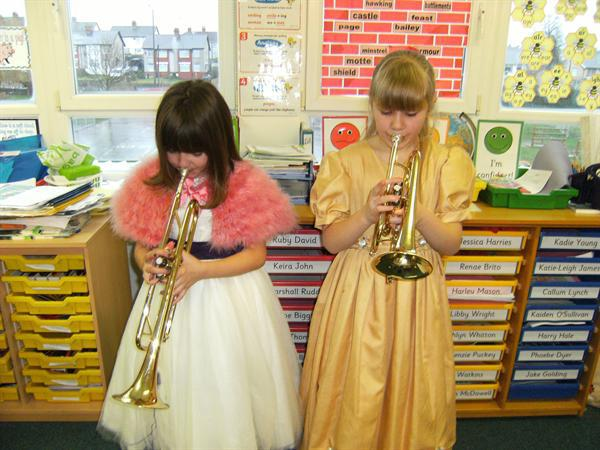 Our female trumpeters