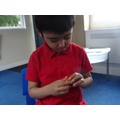 Exploring bricks during our story