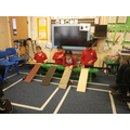 We looked at different surfaces for cars to travel