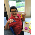 We made 2d shapes using play dough.