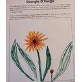 Margarita's Geogia O'Keeffe flower